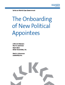 The Onboarding of New Political Appointees